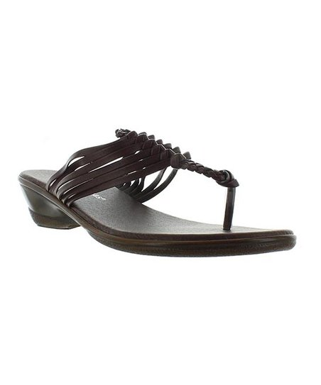 Brown Braid Winnie T-Strap Sandal