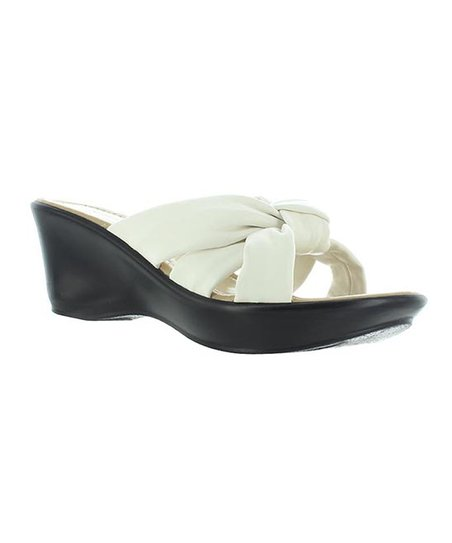 White Knot Affair Slide Wedge
