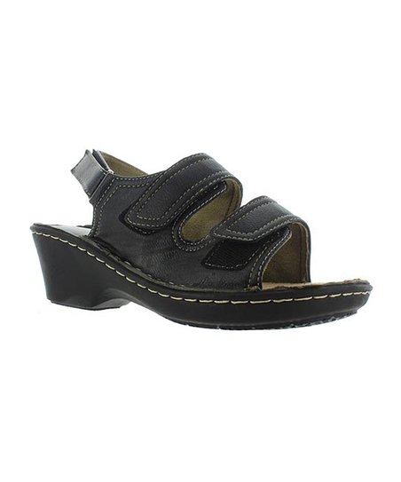 Black Double-Strap Century Sandal