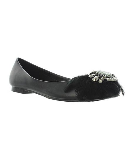 Black Feather Maura Flat