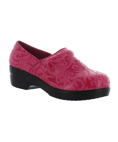 Fuchsia Embossed Rochele Clog