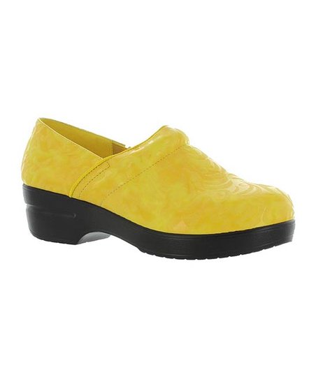 Yellow Embossed Rochele Clog