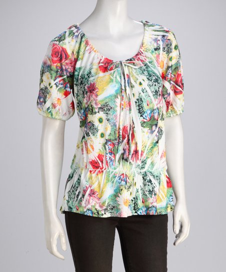 Red Flower Sublimation Top