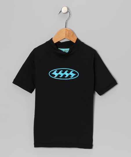 Black Wave Rashguard - Boys