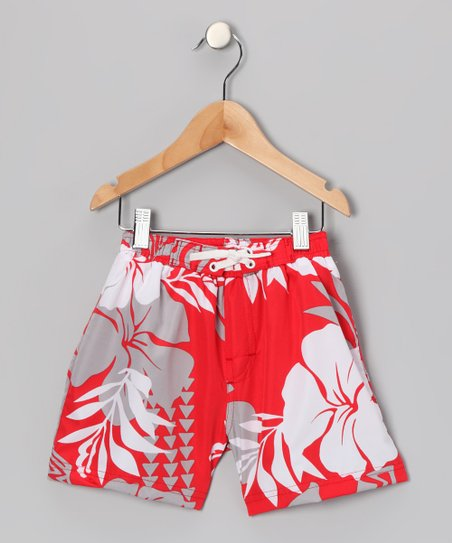 Red Kalihi Swim Trunks - Toddler
