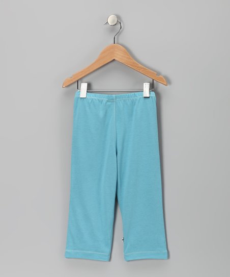 Light Blue Soy Leggings - Toddler