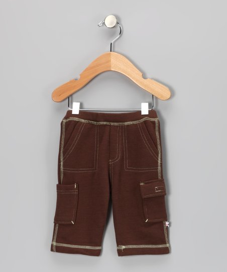 Brown Soy Cargo Pants - Infant
