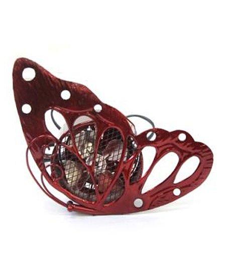 Red Butterfly Fan
