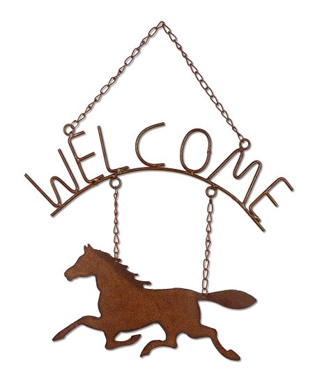 Horsing Around 'Welcome' Wall Art