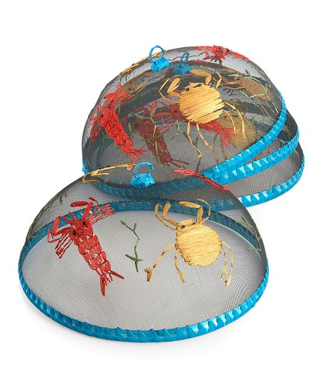 Woodard & Charles Seafood Round Food Dome - Set of Four