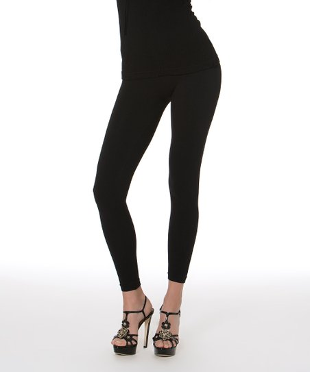 Black Anti-Cellulite Shaper Leggings - Women & Plus