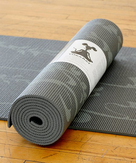 Charcoal & Gray Ivy Yoga Mat