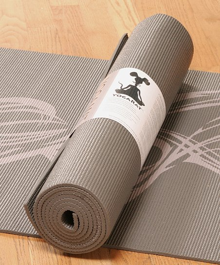 Charcoal & Gray Smoke Yoga Mat