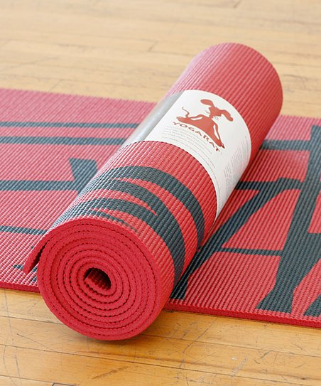 Red & Charcoal Kyoto Yoga Mat