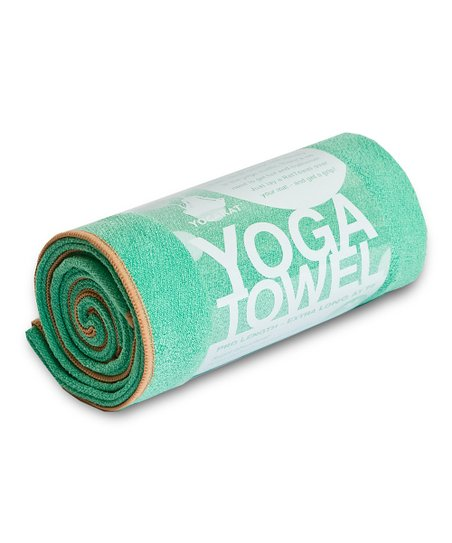 Seafoam & Tan Yoga Towel