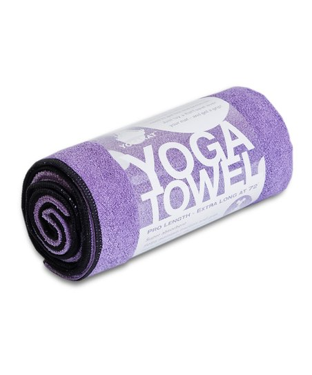 Purple & Black Yoga Towel