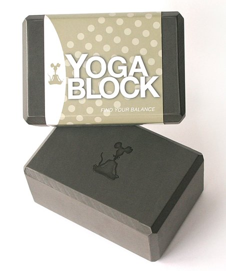 Charcoal Gray Yoga Block
