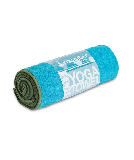 Turquoise & Forest Hot Yoga Towel