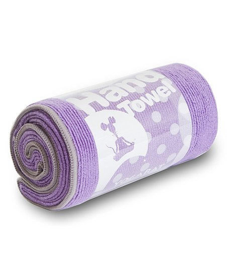 Purple & Charcoal Hot Yoga Hand Towel