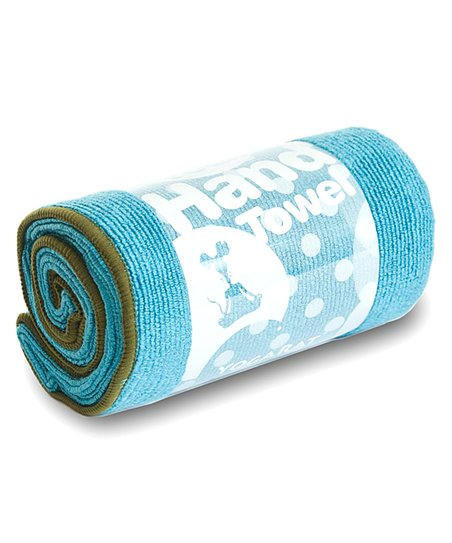 Turquoise & Forest Hot Yoga Hand Towel