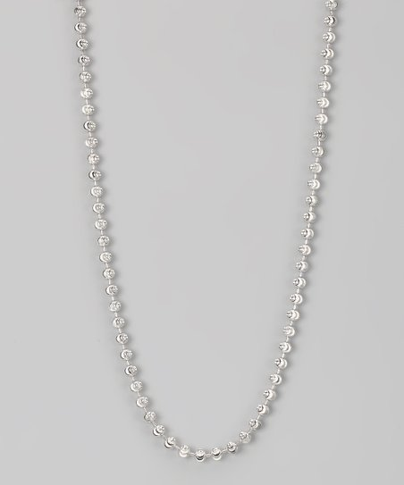 Sterling 4-mm Moon Cut Chain