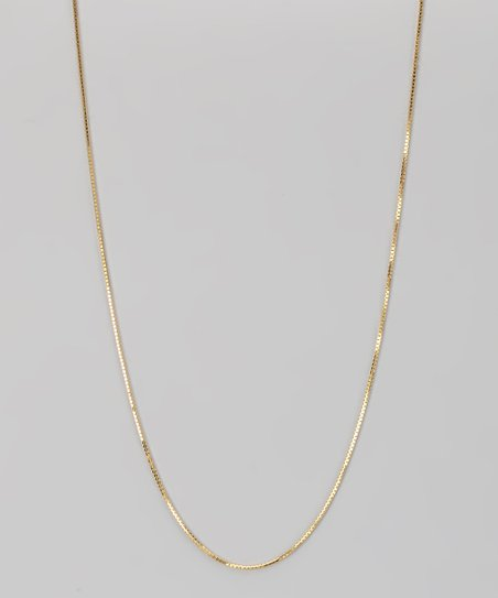 Yellow Gold 0.7-mm Box Chain