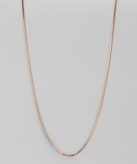 Rose Gold &amp; Sterling Silver 4-mm Cuban Chain