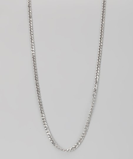 Sterling Silver 3-mm Cuban Chain