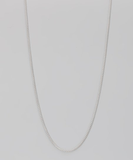 Sterling Silver 1-mm Round Wheat Chain