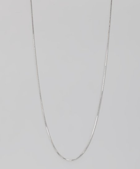 Sterling Silver 0.7-mm Box Chain