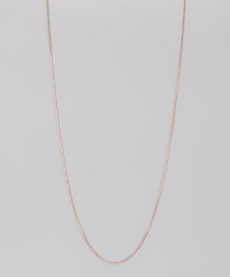 Rose Gold & Sterling Silver 0.5-mm Diamond Cut Cable Chain