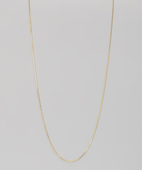 Yellow Gold & Sterling Silver 0.5-mm Diamond Cut Cable Chain