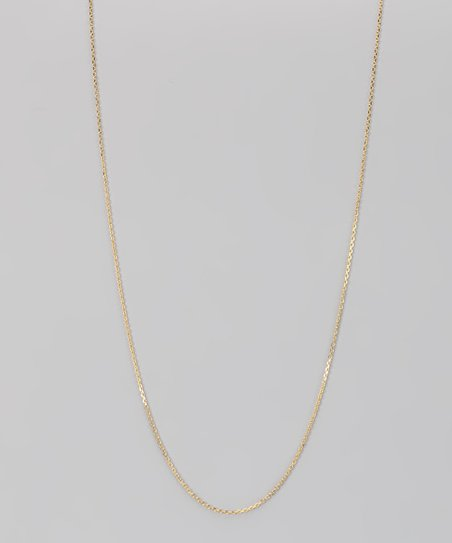 Yellow Gold &amp; Sterling Silver 1-mm Diamond Cut Cable Chain