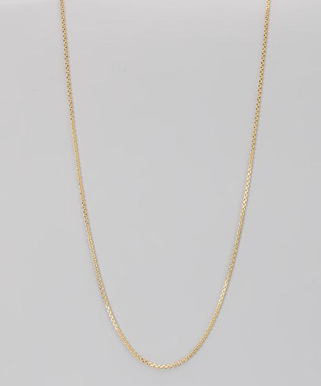 Yellow Gold &amp; Sterling Silver 1.2-mm Diamond Cut Cable Chain