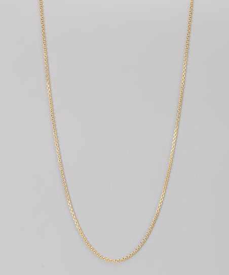 Yellow Gold & Sterling Silver 1.5-mm Diamond Cut Cable Chain