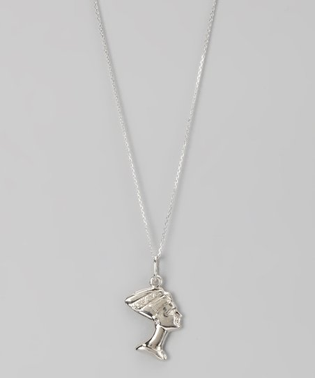 Sterling Silver Egyptian Queen Pendant Necklace