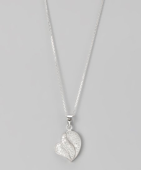 Sterling Silver Micro Pavé Layered Drop Pendant Necklace