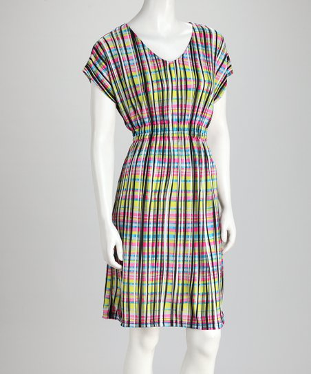 Pink & Yellow Stripe Dress