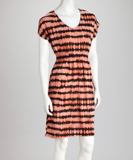 Orange & Black Stripe Dress
