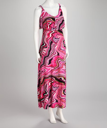 Pink Swirl Maxi Dress