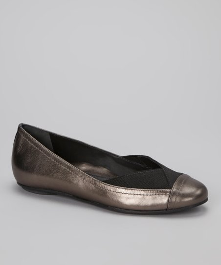 Pewter Metallic Norah Flat