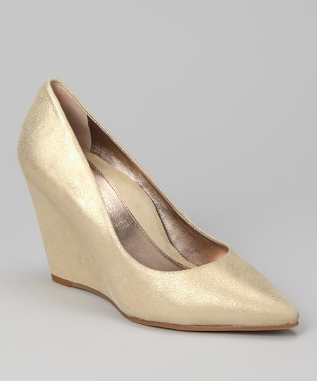 Gold Metallic Pomer Wedge