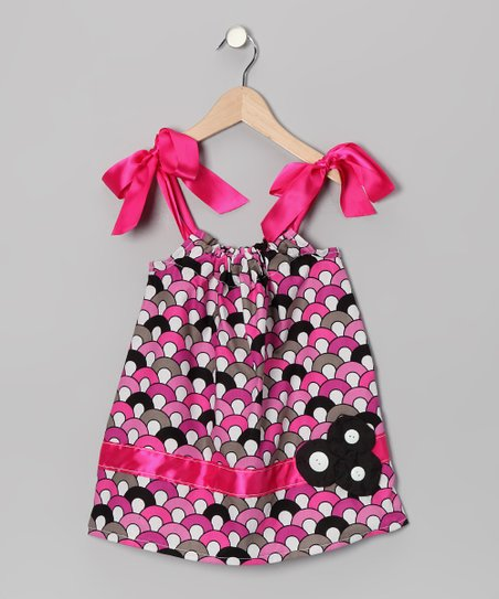 Pink & Gray Circle Swing Dress - Infant, Toddler & Girls