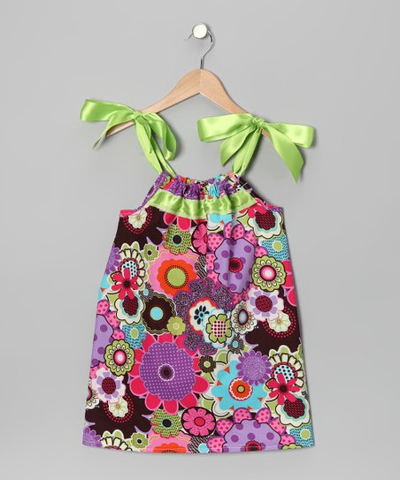 Purple & Pink Floral Swing Dress - Infant, Toddler & Girls