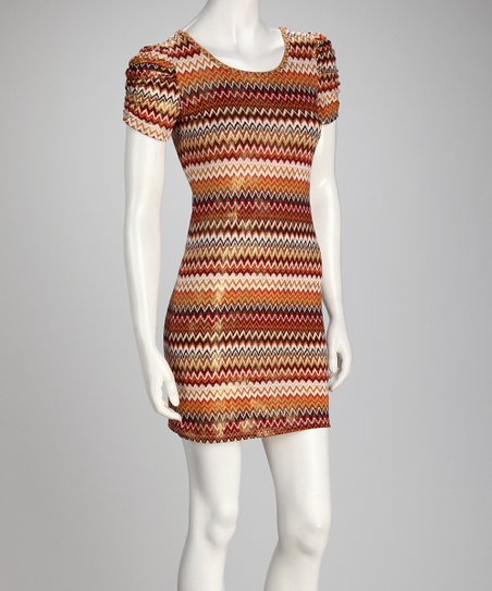 Orange Zigzag Dress