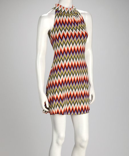 Violet & Orange Chevron Dress