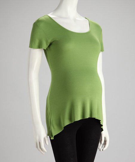 Lime Maternity Short-Sleeve Top