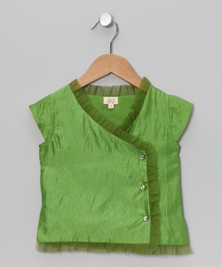 Emerald Navya Silk Wrap Top - Toddler & Girls