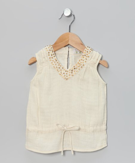 Ivory Sequin Top - Toddler & Girls