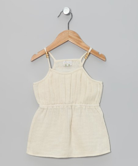 Ivory Pleated Bead Top - Toddler &amp; Girls